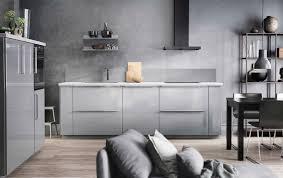 ikea küche grau graue küche mit ringhult fronten hochglanz grau und details in