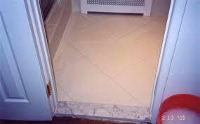 Doorways  Thresholds Between Tile  Carpet Ceramic Tile Advice - Bathroom door threshold 2