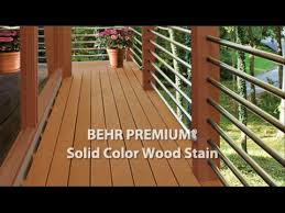 behr premium solid color weatherproofing all in one wood stain