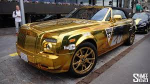 rolls royce ghost gold team goldfinger rolls royce drophead gumball 3000 2015 youtube