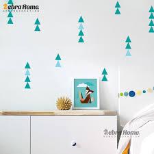 Modern Nursery Wall Decor Children Sticker Nordic Ins Geometry Triangles Sticker Pattern