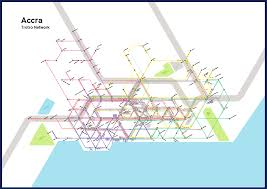Accra Ghana Map Accra Trotro Network Map On Behance