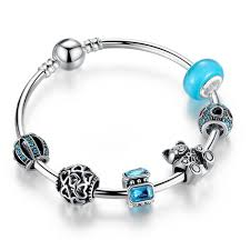 murano glass bangle bracelet images Wholesale 925 silver charm bangle with bear animal open your jpg