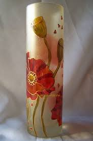 decorative glass vases hand painted glass stained glass paints www atelie rae eu glass