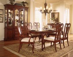 american drew cherry grove dining room oval leg table set in