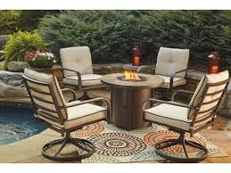 outdoor furniture outdoor patio fire pit and swivel chairs