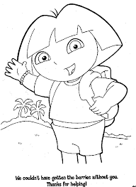 coloring pages girls dora explorer coloring sheets