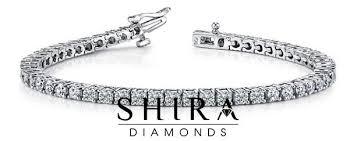 bracelet diamond gold tennis white images Shira diamonds 6 00 ctw round diamond tennis bracelet 14kt white jpg