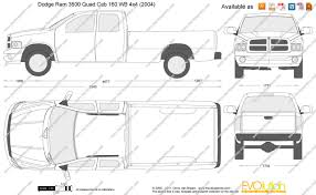 2007 Dodge Ram 3500 Truck Quad Cab - the blueprints com vector drawing dodge ram 3500 quad cab 160