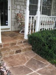 stone front porch step flooring custom house with front porch