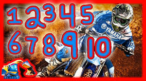 motocross bike numbers kids learn to count numbers moving machines for kids dirt bike