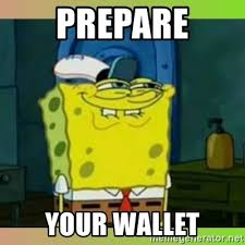 Spongebob Wallet Meme - prepare your wallet spongebob smiling meme generator