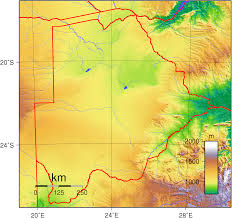 Physical Features Map Of Africa by Geography Of Botswana Wikipedia