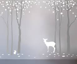 bambizi designer nursery wall stickers starry forest wall stickers