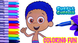 goby coloring page fun bubble guppies coloring activity for kids
