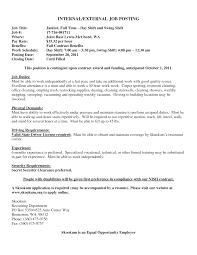 Post Job Resume Internal Resume Format It Cover Letter Sample Resumeresume For Job