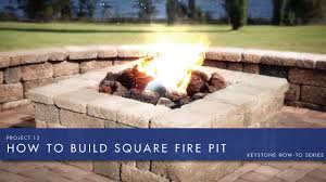 building a square fire pit home