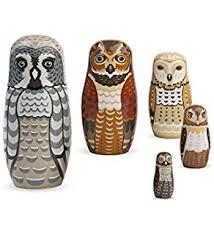 The Barn Owl Carol Stream Amazon Com Barn Owls 5 Piece Russian Nesting Doll Wooden Babushka