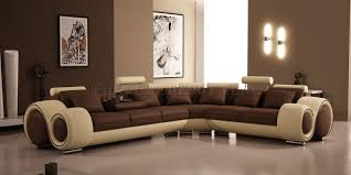 European Sectional Sofas 4087 Sectional Sofa By Vig In Brown U0026 Tan Bonded Leather