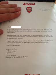 respect arsenal boss arsene wenger sends classy condolence letter