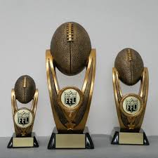 Armchair Quarterback Trophy Midwest Awards Corporation Resin Football Sculptures 3 Sizes