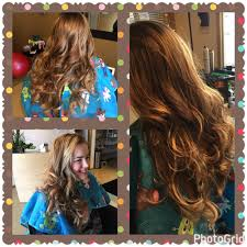 alli wanted to freshen up her summer highlights throughout her