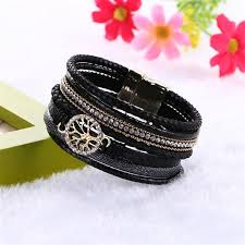 leather bracelet magnetic images 2016 boho leather bracelets bangles with magnetic buckle wrap jpg