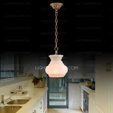 Vintage Pendant Light Hanging Lantern Alabaster Shade Pendant Light Fixtures