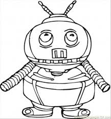 funny robot coloring free tech coloring pages
