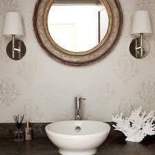 Gold Bathroom Mirror by Round Gold And Gray Bathroom Mirror Design Ideas
