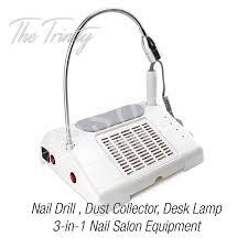 amazon com 35000 rpm nail drill dust collector desk lamp 3 in 1
