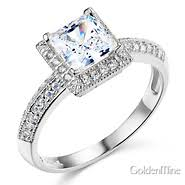 cubic zirconia engagement rings white gold cubic zirconia engagement rings cz ring goldenmine