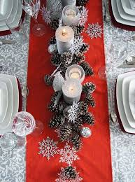 red and silver christmas table settings most beautiful christmas table decorations ideas all about christmas