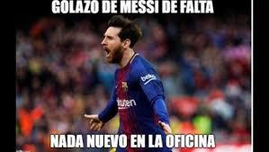 Los Memes De Messi - los mejores memes del golazo de falta de messi el no pasillo