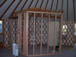 yurt construction ideas partition walls u0026 adjacent structures