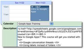 incorporar agenda de treinamento customizing the enterprise site