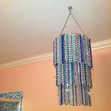 mardi gras bead chandelier my mardi gras bead craft a three ring chandelier i wired