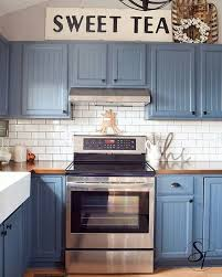 blue kitchen cabinets glamorous ideas blue color country kitchen