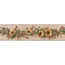 york wallcoverings sunflower wallpaper border cb5517bd the home