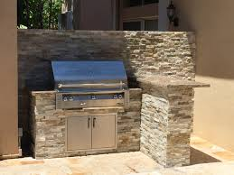 Kitchen L Shaped Island by Small L Shaped Island With Alfresco Grill And Rock Finish