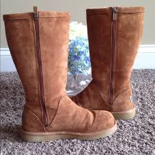 ugg shoes australia brown boots poshmark 71 ugg shoes ugg australia kenly chestnut zip up boots euc