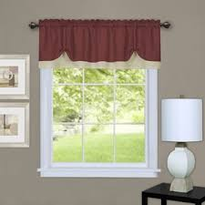Chocolate Curtains With Valance Brown Valances U0026 Kitchen Curtains You U0027ll Love Wayfair
