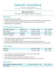 Sample Resume For Employment by Simple Resume Templates 75 Examples Free Download