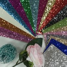 Best Sheet Fabric 20x30cm Pu Chunky Glitter Fabric Sheets For Hair Bow Cushions