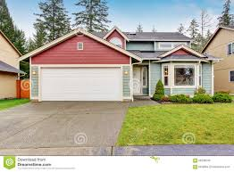classic house with garage and driveway stock photo image 56209540