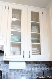 Kitchen With Glass Cabinet Doors How To Add Glass To Cabinet Doors Confessions Of A Serial Do It