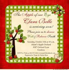 blessing baby apple baby shower invitation green purple blessing