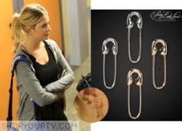 pretty liars earrings aéropostale pretty liars emily safety pin earrings 2 pack