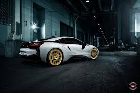 bmw i8 gold vossen wheels bmw i8 vossen forgedlc series lc 105t