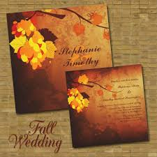fall wedding invitations 46 stylish and fall wedding invitations weddingomania